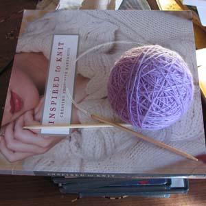 Book and yarn
