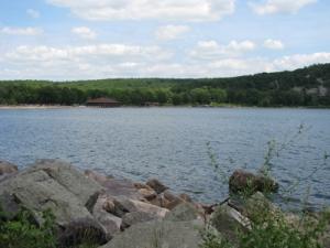 Devils lake beach
