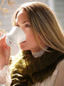 Tudor ruffles sipping tea perfect