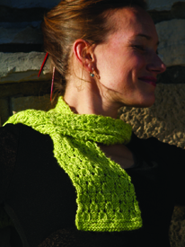 Key lime scarf