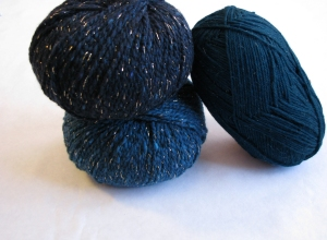 Berrocco Blackstone Tweed Metallic and KnitPicks Stroll Glimmer