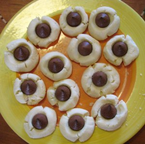 chocolate gf thumbprints