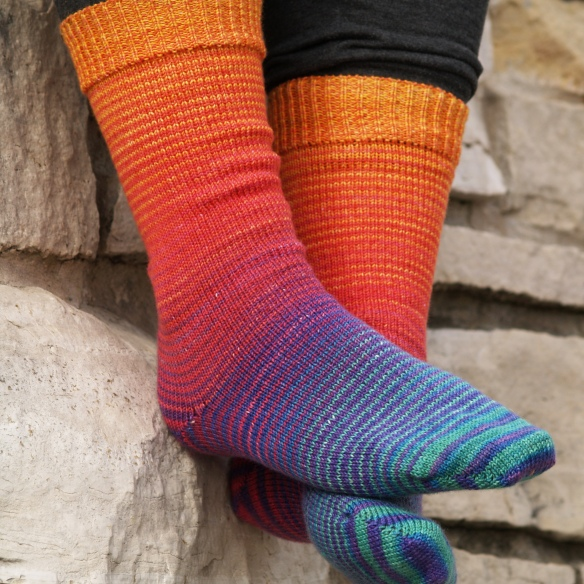 Over the Rainbow Gradient Socks