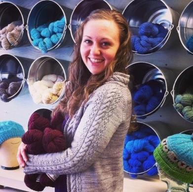 Jennifer with yarn